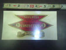 superior confections pure sugar and nut 1 cent water release decal stock # 139