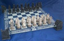 Vampire et loup-garou chess set verre board gothique pagan celtique fantasy twilight