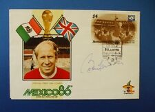 1986 MEXICO WORLD CUP FIRST DAY COVER SIGNED BY BOBBY CHARLTON [MANCHESTER UTD]