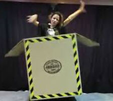 AWESOME Flying Box Illusion!! - Tora Stage Magic Trick floating assistant