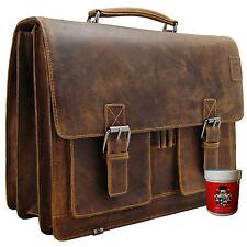 Aktentasche Laptoptasche Lehrertasche HEDIN aus braunem Leder BARON of MALTZAHN