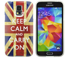 Housse de protection pour samsung Galaxy s5 i9600 Case Cover Keep Calm Carry On Angleterre