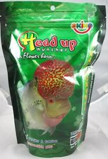100G.NEW OKIKO HEAD UP HUNCHER FLOWERHORN COLOUR FISH FOODS FREE SHIPPING