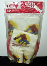 1976 VINTAGE AMAZING SPIDER-MAN SEALED PARTY PACK (CUPS, PLATES, NAPKINS+) WH2 D
