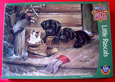 Ruane Manning LITTLE RASCALS 550 pc Jigsaw Puzzle SEALED Dogs/Puppies/Cat/Kitten