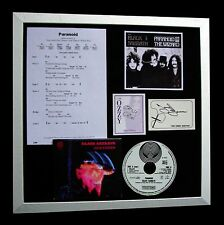 BLACK SABBATH+PARANOID+IOMMI+OZZY+SIGNED+FRAMED=100% GENUINE+EXPRESS GLOBAL SHIP