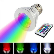 E27 Disco RGB Party Lamp Rotating Color 3W LED Crystal Stage Bar Light Bulb