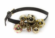 """FREEDOM AT TOPSHOP Women's Multi-Color Leather Collar Necklace 61K97Z 12-15"""" $62"""