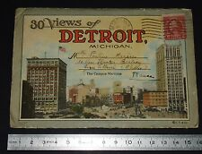 RARE 30 VIEWS OF DETROIT MICHIGAN FOLDER 1927 FORD BUILDING STATION BELLE ISLE