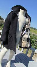 NEW 6Y BURBERRY girls mini Mantlebury $450 coat wool cashmere peplum nova check