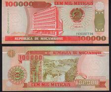 Mozambique 100,000 Meticais P139 1993 Mint Unc
