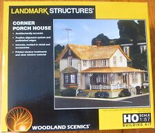 Woodland Scenics HO #5196 Corner Porch House Kit (Building) NEW