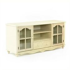 Entertainment Center TV Stands Glass Stand Roosevelt Large Console Antique White