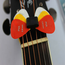Classic Guitar Head Stock Pick Holder Rubber With 4 Free Picks Guitar Pick NEWLY