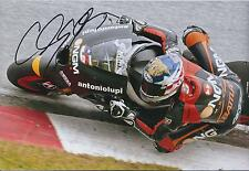 Colin EDWARDS SIGNED Antoniolupi NGM 12x8 Photo Autograph AFTAL COA Silverstone