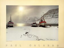 Icelandic Fishing Boats by Paul Calabro Original 1985 Photo Lithograph Signed