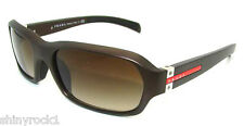 Authentic PRADA SPORT Matte Brown Sunglasses PS 10I 10IS - 7Y26S1 *NEW*