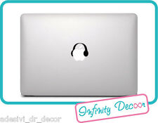 "Adesivo ""Cuffie""  Mac Book Pro/Air 13 - Stickers ""headphones"" for apple macbook"