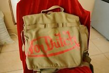 Von Dutch Shoulder Bag Book Bag Army Green Canvas