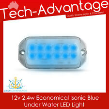 12V ECONOMY ISONIC BLUE SMALL BOAT MARINE UNDERWATER TRANSOM LED LIGHT