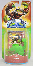 Rare Skylanders Swap Force Translucent Clear Crystal Green chase variant Scorp