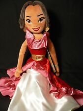 "Elena of Avalor~SOFT DOLL~20""~50.8cm~Rag~Latina~Plush~Princess~NWT~Disney Store"