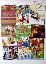"Wholesale 20 Christmas Gift Bags Assorted Designs w/Handle & Name Tag 9""x 7""x 4"""
