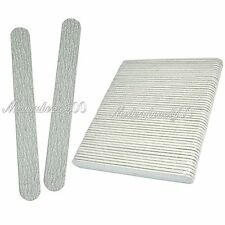 50 PSC Nail Art Sanding Files Buffing Round Manicure Tool #100 #180 Gray