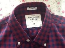Abercrombie & Fitch men's s/s shirt size M, navy/red check, new