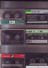 lot de cassettes audio pour ré-enregistrer