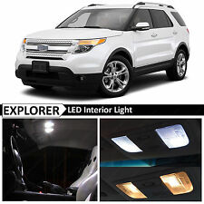 13x White Interior LED Lights Package Kit for 2011-2017 Ford Explorer