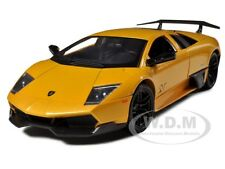 LAMBORGHINI MURCIELAGO LP 670-4 SV YELLOW 1/24 DIECAST MODEL CAR MOTORMAX 73350