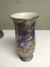 "TOYO CERAMIC VASE MADE IN CHINA, SUPERVISED BY H.F.P. MACAU 8 1/4"" T- BEAUTIFUL"