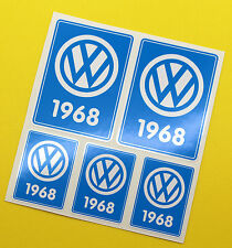 VW 1968 VOLKSWAGEN Year Date stickers INSIDE GLASS BEETLE BAY WINDOW CAMPER