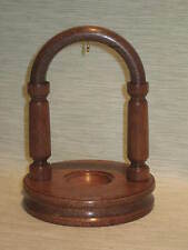 WOODEN POCKET WATCH STAND DISPLAY HOLDER HANGER HANDMADE IN DARK MAHOGANY WOOD