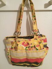 ROXY GIRL SHOULDER BAG PURSE MULTI COLOR Lots Of Pockets Yellow Floral