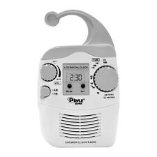 Pyle PSR6 Hanging Waterproof AM/FM Shower Clock Radio