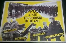 IRISH REPUBLICAN ANTI ROYAL ULSTER CONSTABULARY RUC POSTER LONG KESH SINN FEIN