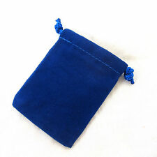 Baby Blue Velour Drawstring Gift Bag Pouch 7x9cm QTY3 Crystals Jewelry A033