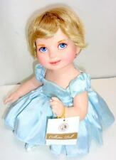 Franklin Mint Princess Diana Jointed Porcelain Baby Doll Blue Elegance Edition