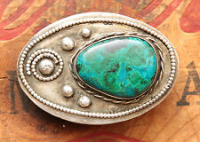 Vintage Small Hand Made Native American Style Western Belt Buckle