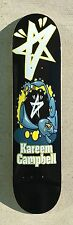 "City Stars Kareem Campbell skateboard deck 7.5"" inch graphic BLACK D34"