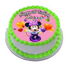 MINNIE MOUSE REAL EDIBLE ICING CAKE TOPPER PARTY IMAGE FROSTING SHEET