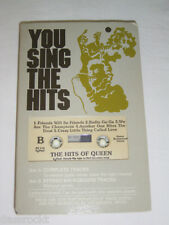 "MC - Queen Karaoke "" You Sing The Hits "" Lyrics - Canada Pocket Songs / Tape"