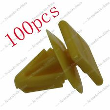 100pcs Interior Door Car Panel Trim Clip 16mm Push in Type Rivet Fastener Bumper