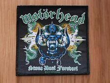MOTORHEAD - STONE DEAF FOREVER (NEW) SEW ON W-PATCH OFFICIAL BAND MERCHANDISE