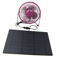 Solar Fan Powered by Solar Panel the pink  usb Solar Ventilator for home