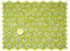 Margaridas Baumwolle-Satin gelb (lime) Hilco 50 cm Meterware Stoff nähen