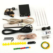 Complete Tattoo Kit Set Equipment Machine Needles Power Supply Gun Color Inks  F