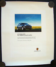 PORSCHE OFFICIAL CAYENNE V6  IGNITION SHOWROOM ADVERTISING POSTER 2005 SMALL USA